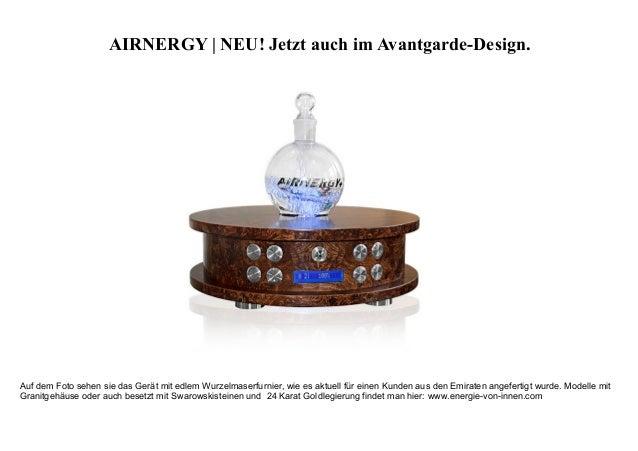 AIRNERGY | NEU! Jetzt auch im Avantgarde-Design. Auf dem Foto sehen sie das Gerät mit edlem Wurzelmaserfurnier, wie es akt...
