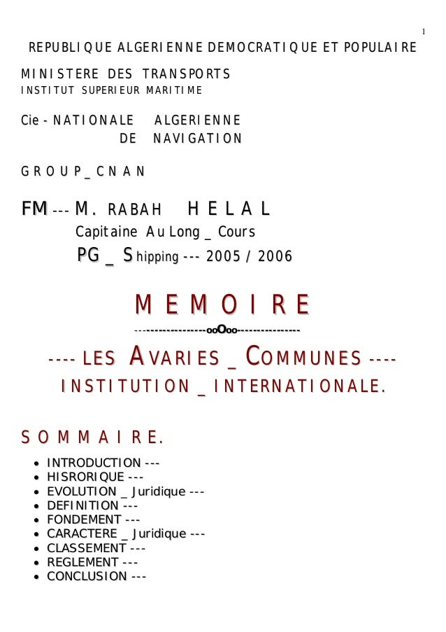 Avarie commune by r helal