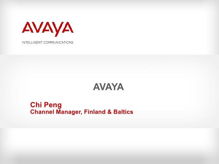 AVAYA Chi Peng Channel Manager, Finland & Baltics