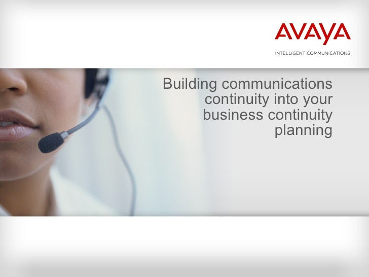 Building communications continuity into your business continuity planning