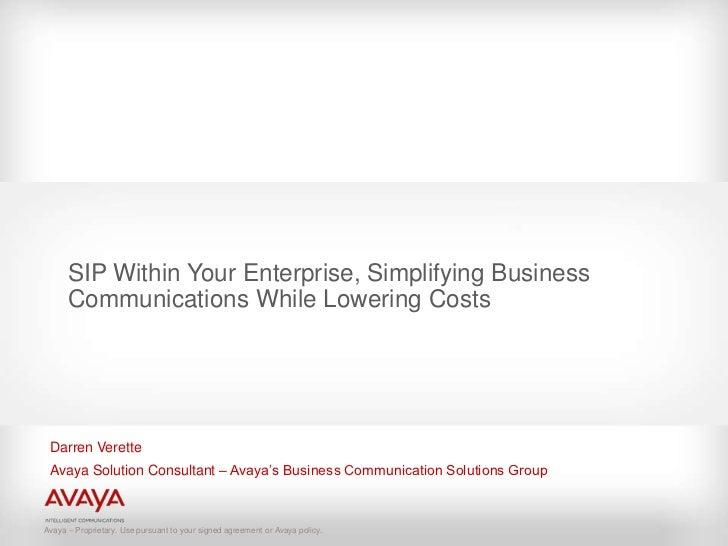 Avaya sipwithinyourenterprise-090629022848-phpapp02