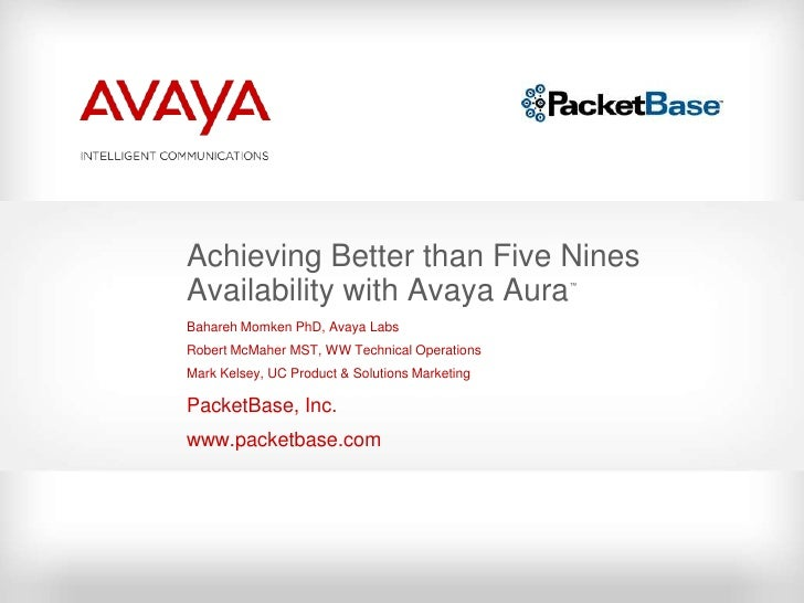 Avaya Aura Five Nines by PacketBase