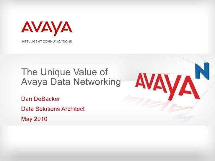 Avaya data networking campus solutions may26