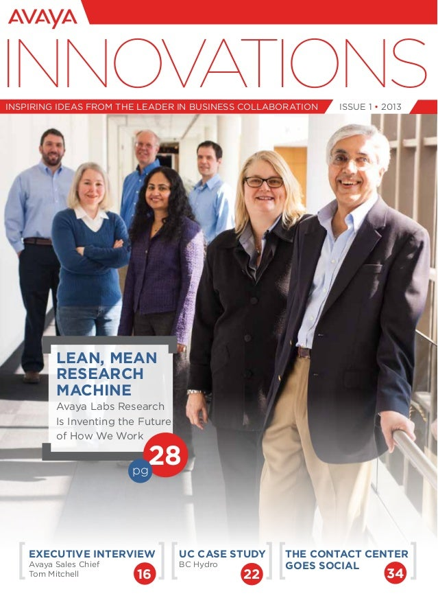 Issue 1 • 2013INNOVATIONSinspiring ideas from the leader in business collaborationUC Case StudyBC HydroExecutive Interview...