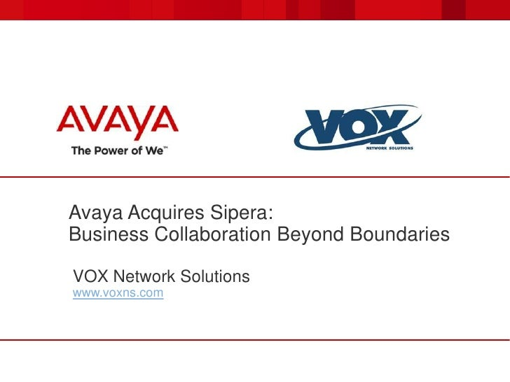 Avaya Sipera SBC Solutions by VOXNS