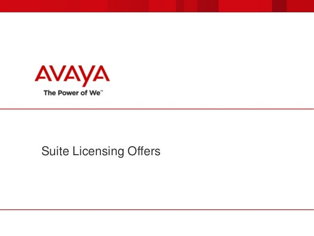 Suite Licensing Offers