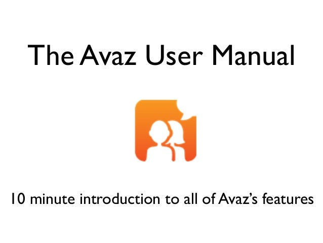 Avaz for Autism 2.0 User manual