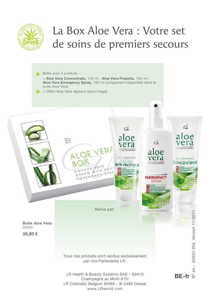 Aloé Vera brochure