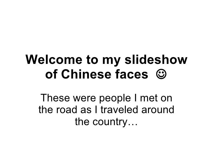 New Plateaus: Chinese Faces pt 1