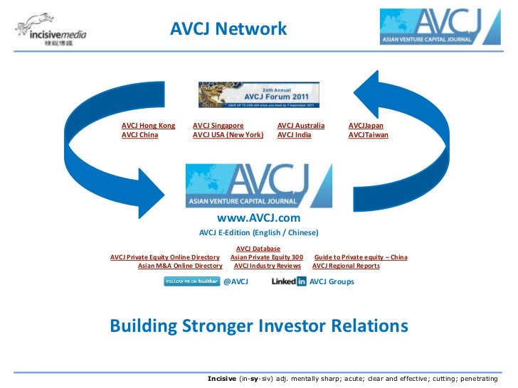 AVCJ 2011 Overview