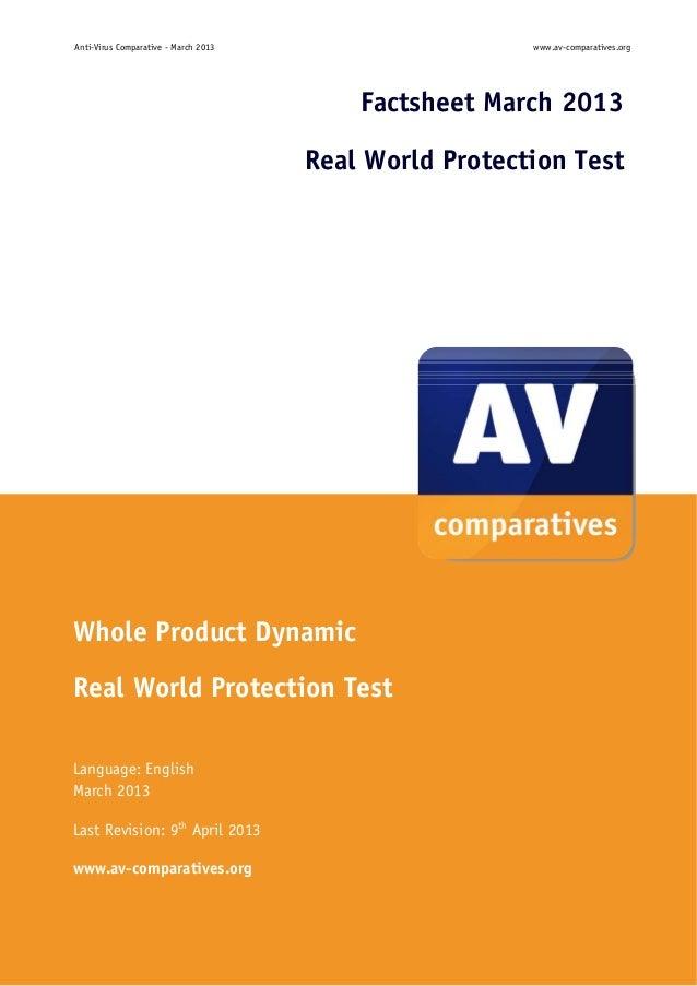 Anti-Virus Comparative - March 2013                        www.av-comparatives.org                                        ...