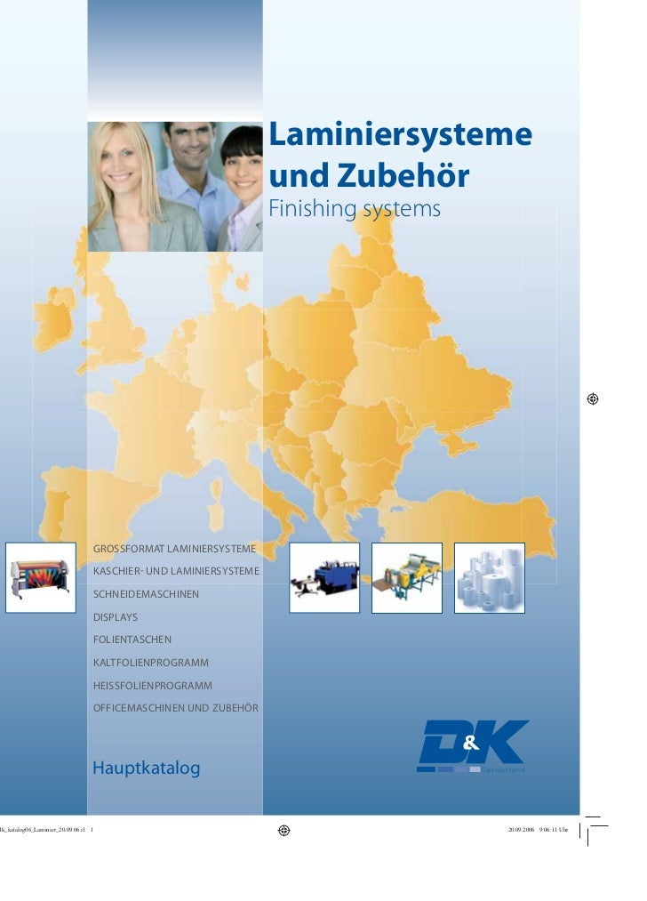 Laminiersysteme                                und Zubehör                                Finishing systemsGROSSFORMAT LAM...