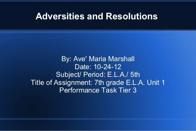Ave' Marshall Powerpoint