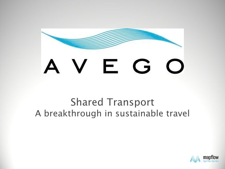 Shared Transport A breakthrough in sustainable travel
