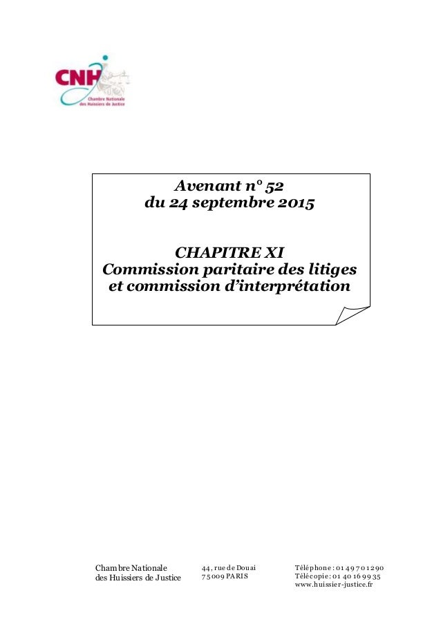 Convention collective nationale huissiers justice ccmr - Chambre nationale des huissiers de justice ...
