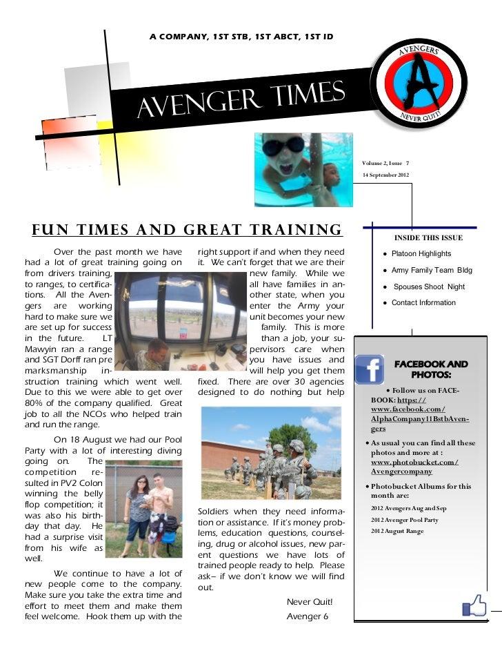 September Avenger Times