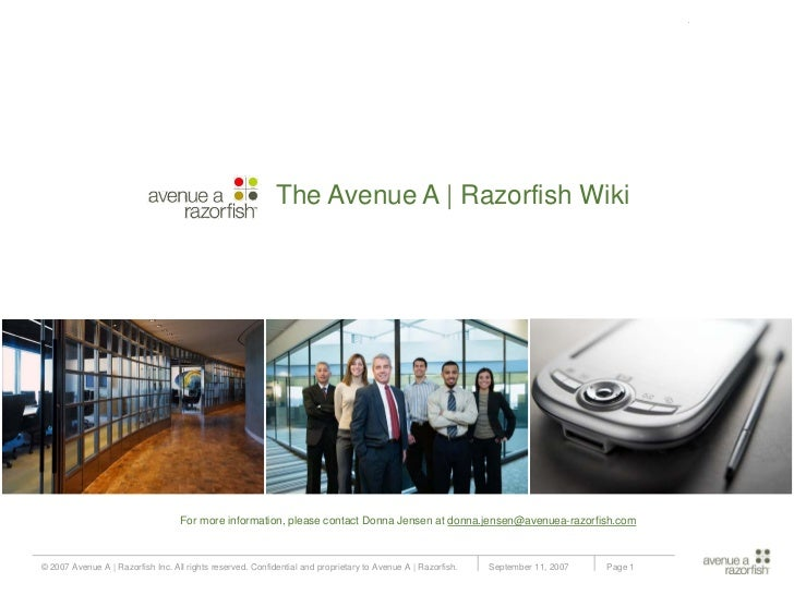 Submission for Groundswell : The Avenue A | Razorfish Wiki                                                                ...