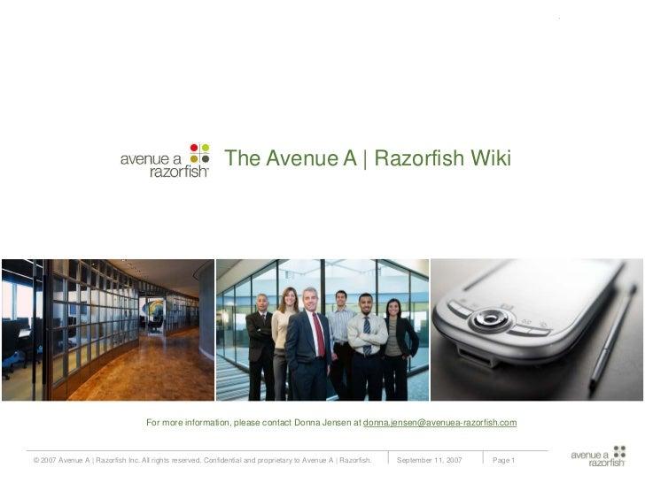 Avenue A | Razorfish Wiki Introduction