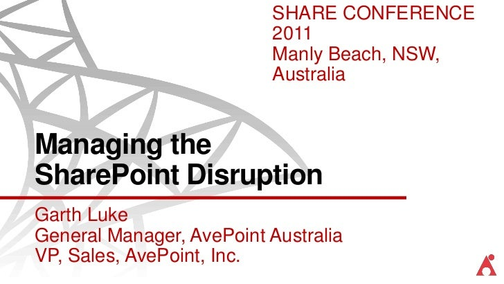 AvePoint - Managing the SharePoint Disruption