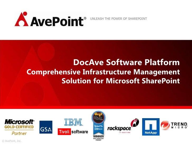 AvePoint Platform Overview