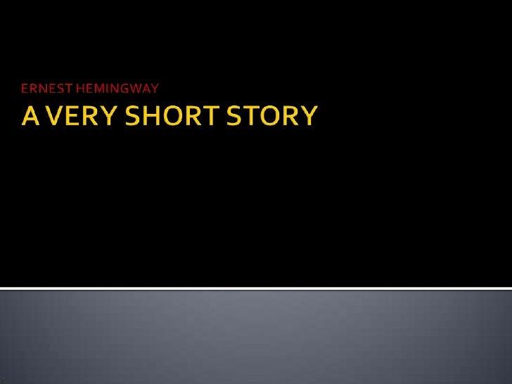 Ernest hemingway short stories?