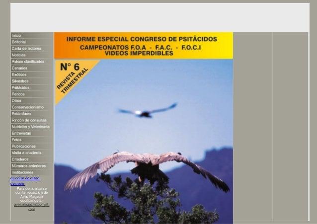 de color de canto de porte Para comunicarse con la redacción de Aves Magacin escríbanos a: avesmagacin@gmail. com