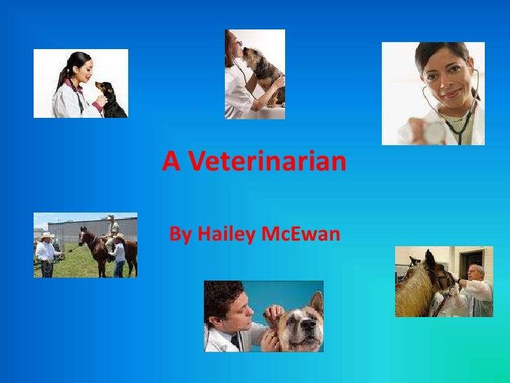 A Veterinarian <br />By Hailey McEwan<br />