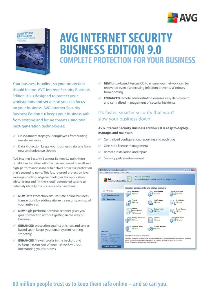 AVG Internet SecurIty                                  BuSIneSS eDItIOn 9.0                                  cOmplete prOt...