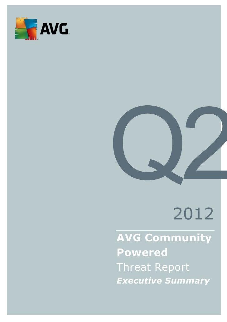 AVG Technologies Q2 Community Threat Report Executive Summary Final