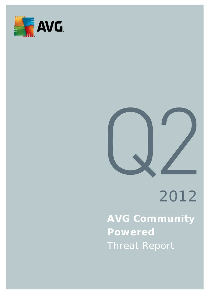 AVG Community Powered Threat Report: Q2 2012