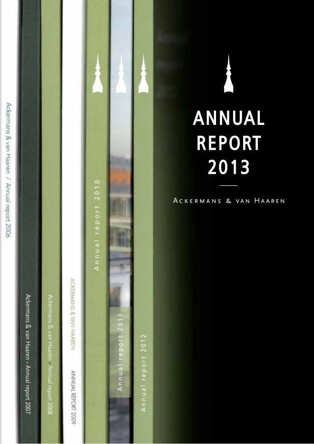 Ackermans & van Haaren - Annual Report 2013