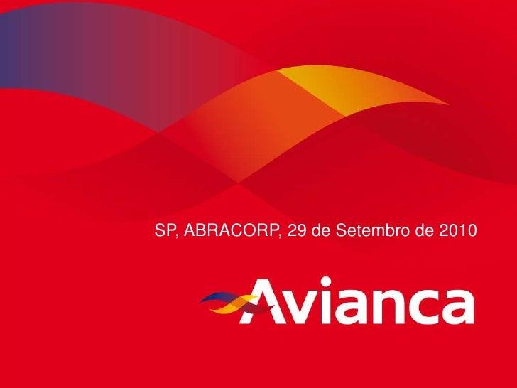 Apresentação Avianca reunião ABRACORP de 29 SET