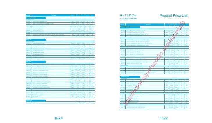 Product Price List                                                                                                        ...