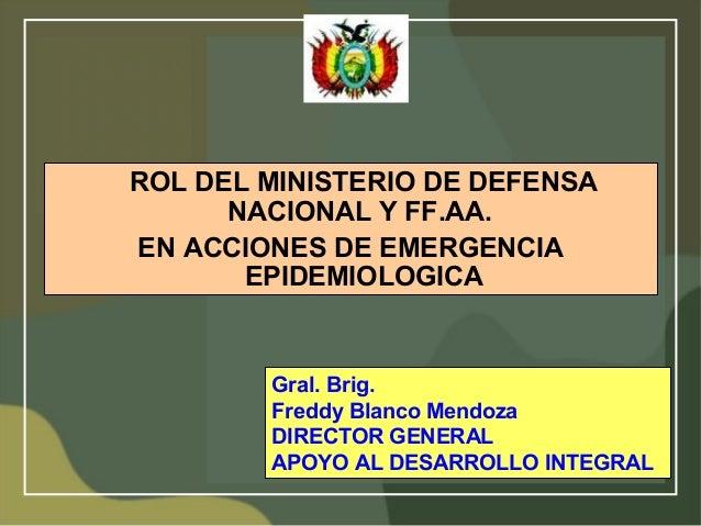 Rol del ministerio de defensa nacional y las ffaa en for Ministerio de policia nacional