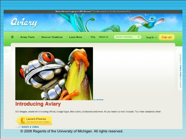 Aviary - A Sweet Suite of Online Graphic Tools, Updated