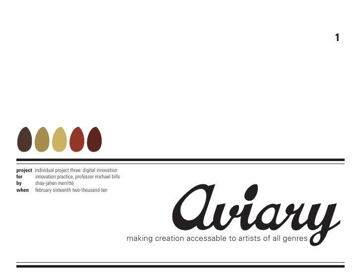 Aviary innovation project