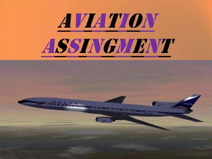 Aviation assingment frankfinn