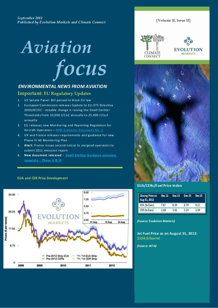 September 2012Published by Evolution Markets and Climate Connect                              [Volume II, Issue II]     Av...