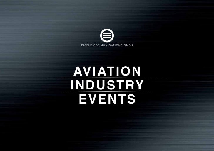 'Aviation Industry Events' by Eisele Communications GmbH (english)