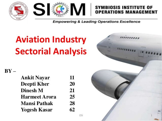 Aviation Industry Sectorial Analysis BY – Ankit Nayar Deepti Kher Dinesh M Harmeet Arora Mansi Pathak Yogesh Kasar  11 20 ...