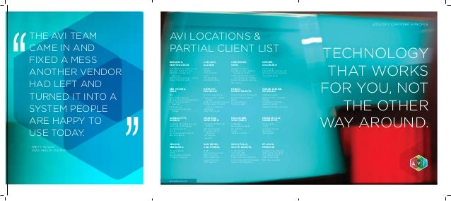 Avi corporate brochure