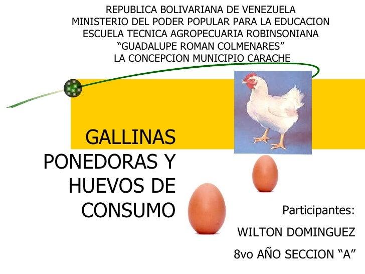 REPUBLICA BOLIVARIANA DE VENEZUELA MINISTERIO DEL PODER POPULAR PARA LA EDUCACION ESCUELA TECNICA AGROPECUARIA ROBINSONIAN...