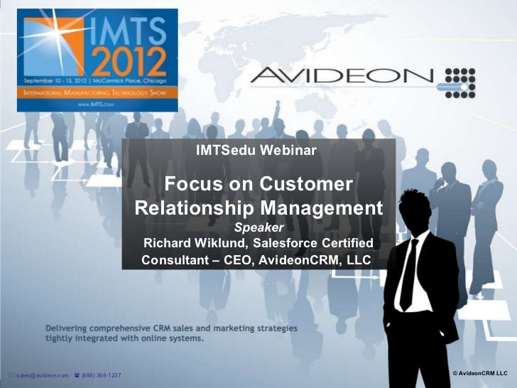 IMTSedu Webinar: Focus on Customer Relationship Management