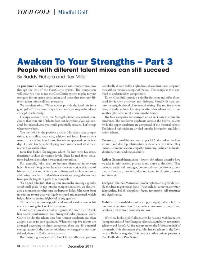 Golf: Awaken Your Talents to Improve Your Game 3 of 5