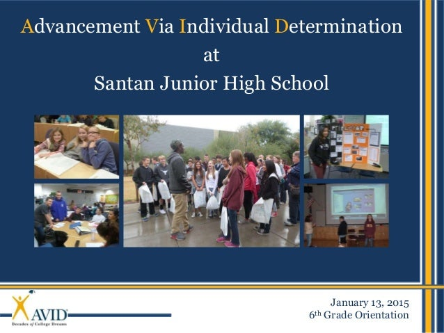 Santan JHS - AVID Introduction