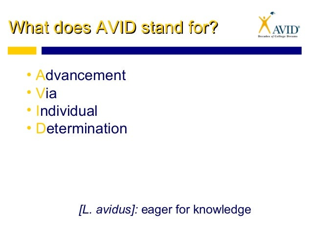 AVID overview 2015