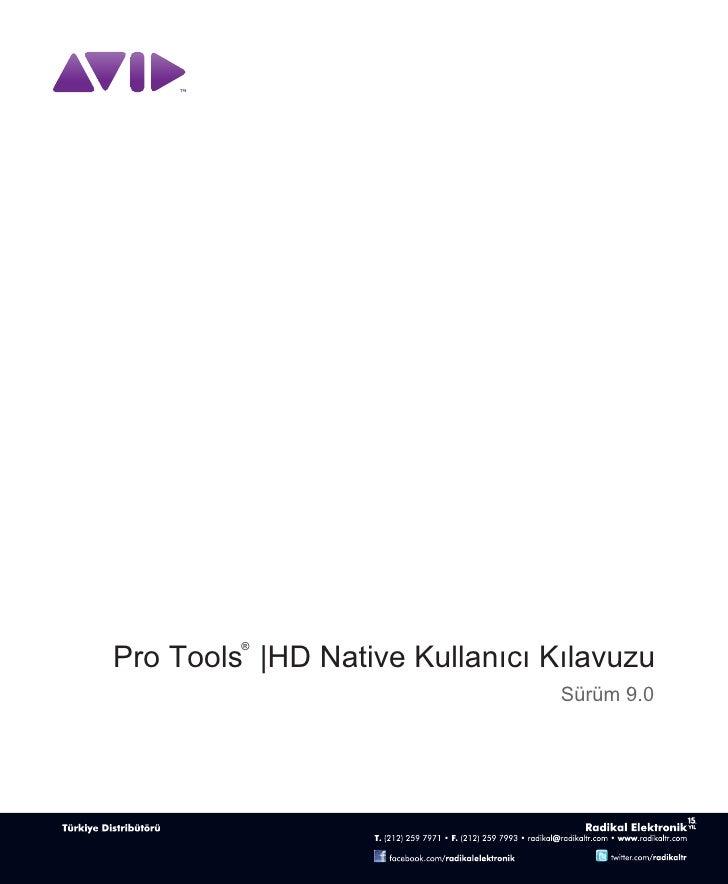 Avid Pro Tools HD Native Kullanici Kilavuzu v90_69708