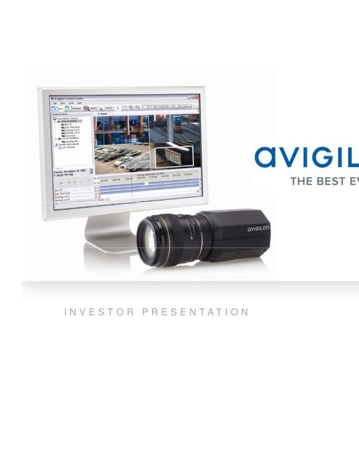 Avigilon Investor Presentation