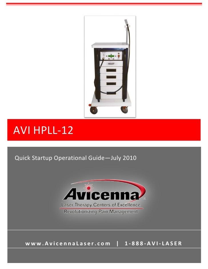 Avicenna AVI HPLL 12 User Manual