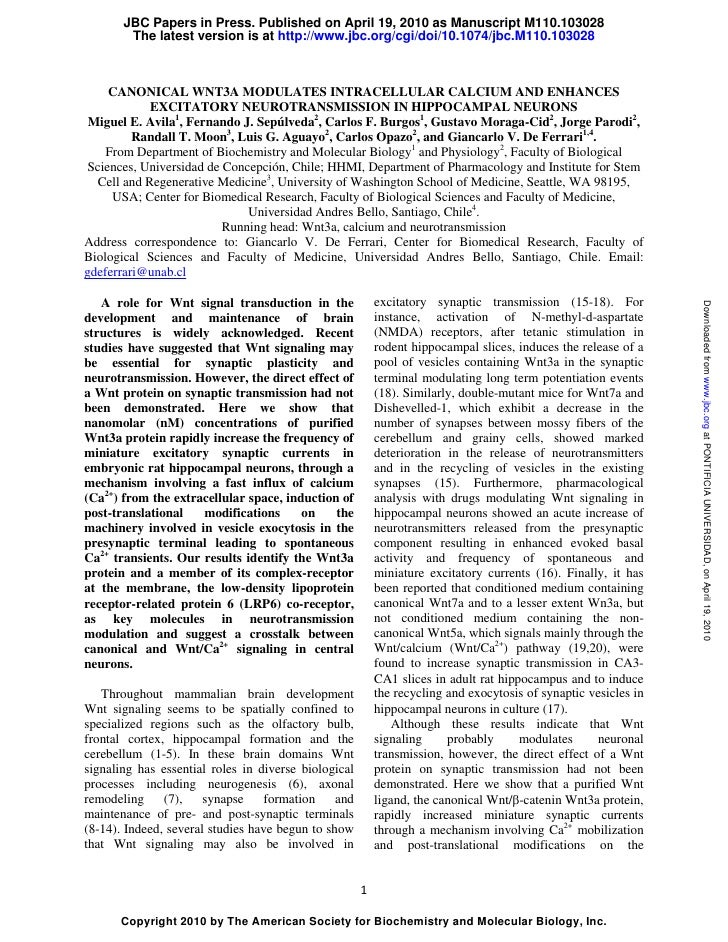 JBC Papers in Press. Published on April 19, 2010 as Manuscript M110.103028        The latest version is at http://www.jbc....